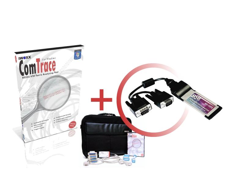 RS232 Analyser [ExpressCard] - Basispaket plus 2xRS232 ExpressCard