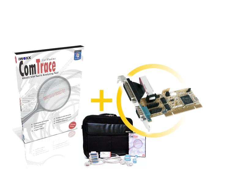 RS232 Analyser [PCI] - Basispaket plus 2xRS232 PCI Steckkarte