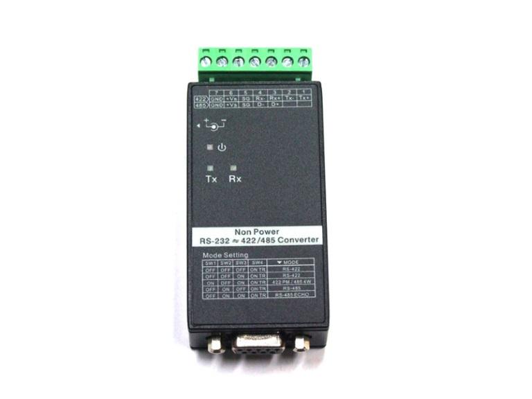 RS232-RS422/RS485 Konverter - 15KV/600W ESD-Schutz inkl. DIN-Railkit