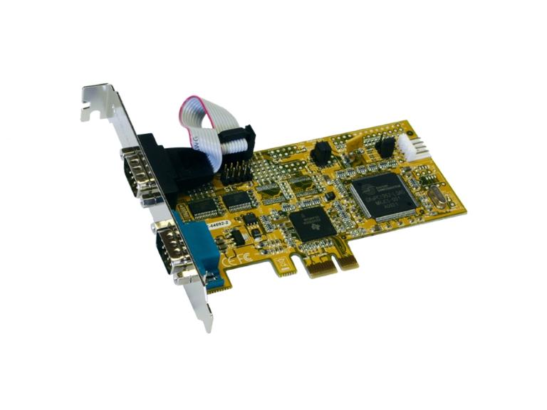 Exsys EX-44092-2 PCIe auf 2xRS232 Seriell Port/high performance